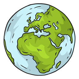 Planeta terra globo europa áfrica plana