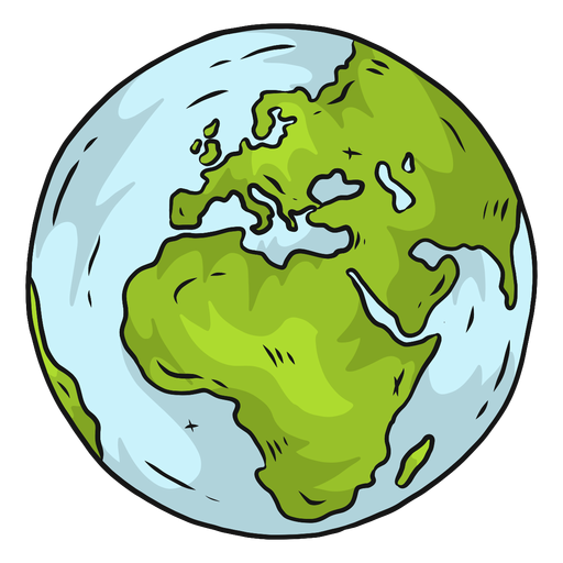 Planeta tierra globo europa africa plana Transparent PNG