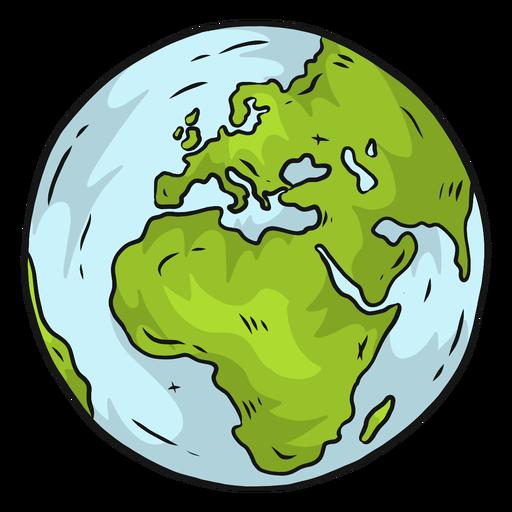 Planetenerdekugel Europa Afrika flach Transparent PNG