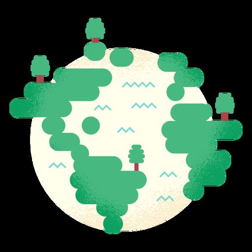 Planeta Terra globo árvore floresta plana Transparent PNG