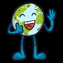 Planeta tierra felicidad risa sonrisa plana