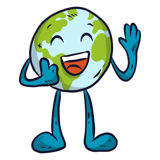 Planet earth happiness laugh smile flat Transparent PNG