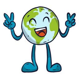 Planet Erde Glück Lachen Lächeln Geste flach
