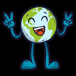 Planeta tierra felicidad risa sonrisa gesto plano
