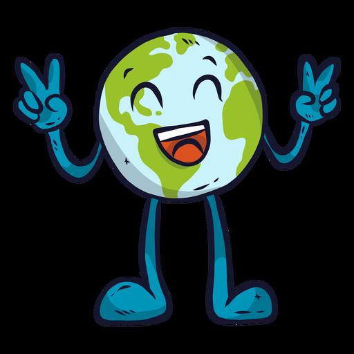 Planeta tierra felicidad risa sonrisa gesto plano Transparent PNG