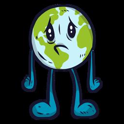 Planeta tierra tristeza melancólica plana