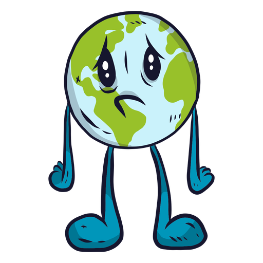 Planeta terra tristeza melancolia plana Transparent PNG