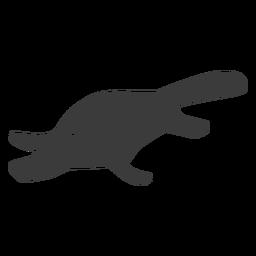 Silueta de pico de cola de pato platypus