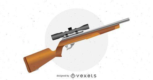 Vector de rifle de francotirador