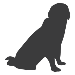 Puppy dog ear tail silhouette