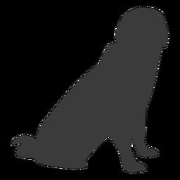 Silhueta de cauda de orelha de cachorro filhote de cachorro