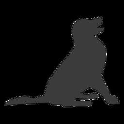 Cachorro perro cola oreja silueta
