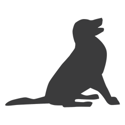Puppy dog tail ear silhouette