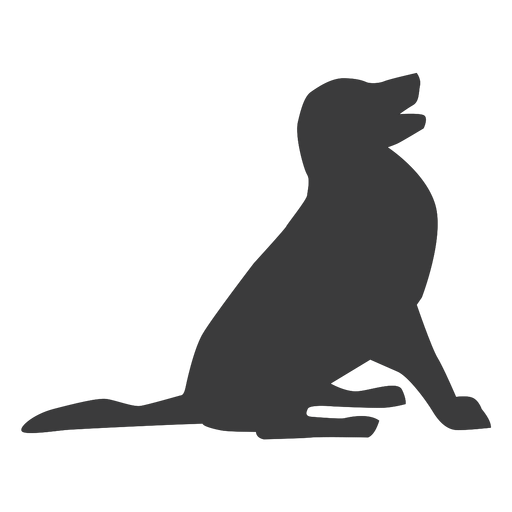 Puppy dog tail ear silhouette Transparent PNG