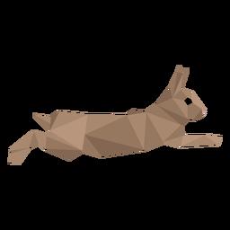 Kaninchenkaninchen-Schnauze niedrig Poly