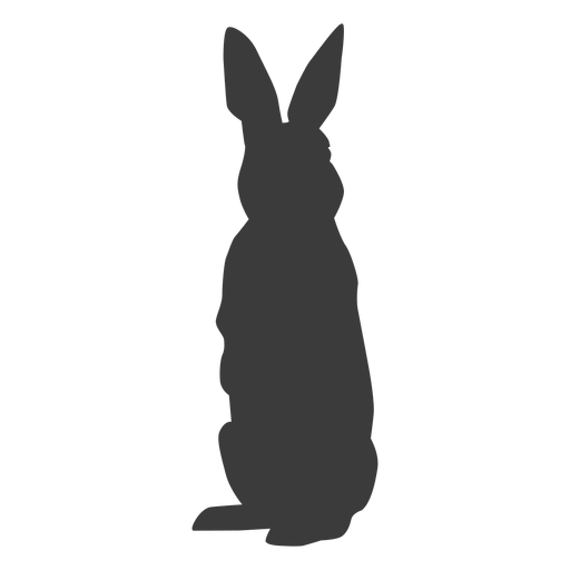 Rabbit bunny ear muzzle silhouette Transparent PNG