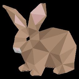Conejito conejo conejo oreja baja poli