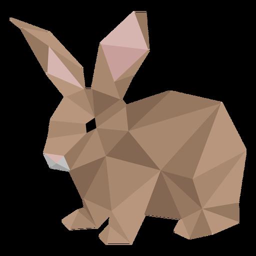 Conejito conejo conejo oreja baja poli Transparent PNG