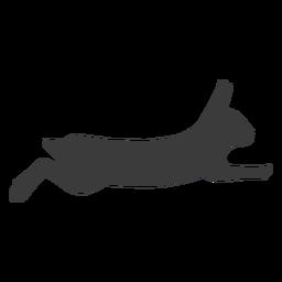 Silhueta de orelha de focinho de coelho coelho