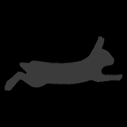 Rabbit bunny muzzle ear silhouette Transparent PNG