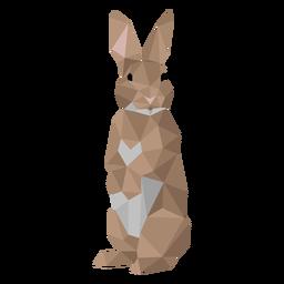 Oreja de conejo conejo bozal low poly