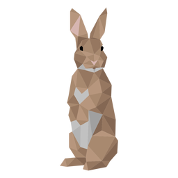 Rabbit ear bunny muzzle low poly