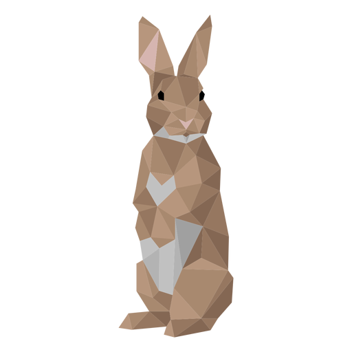 Rabbit ear bunny muzzle low poly Transparent PNG