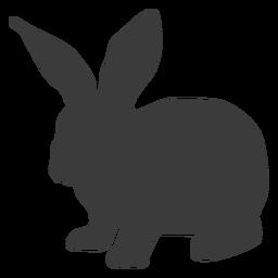 Silueta de hocico de conejo de oreja de conejo