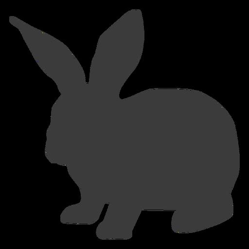 Rabbit ear bunny muzzle silhouette Transparent PNG