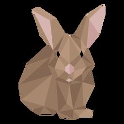 Bozal de conejo oreja de conejo low poly