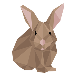 Rabbit muzzle bunny ear low poly