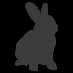 Conejo hocico conejo oreja silueta