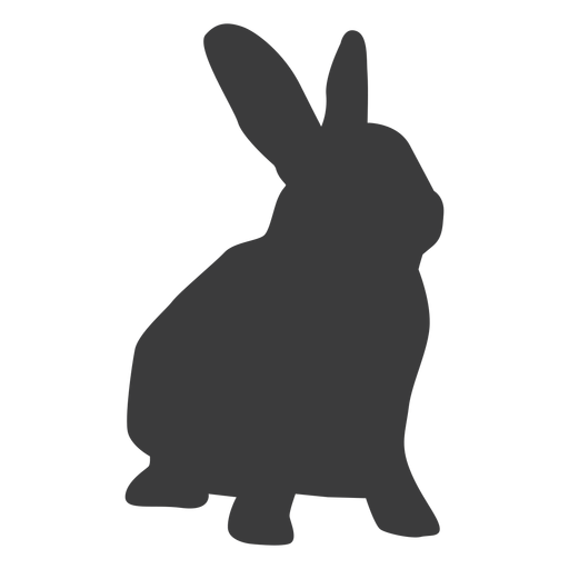 Rabbit muzzle bunny ear silhouette