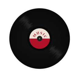 Grabar ilustración de música de vinilo.