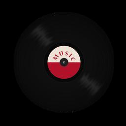 Grave a ilustração de música de vinil