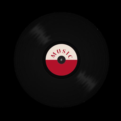 Ilustração de música de vinil gravada Transparent PNG