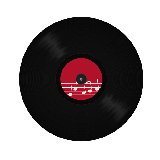 Record vinyl note illustration Transparent PNG