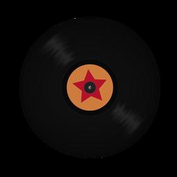 Ilustración de estrella de vinilo de registro