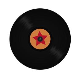 Record vinyl star illustration