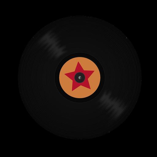 Record vinyl star illustration Transparent PNG