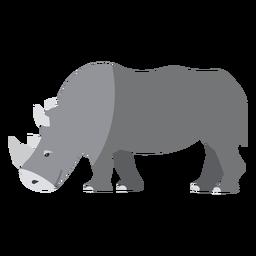 Rhino rhinoceros horn tail flat