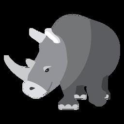 Rinoceronte cuerno de rinoceronte plana
