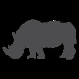 Silhueta de gordura de chifre de rinoceronte de rinoceronte