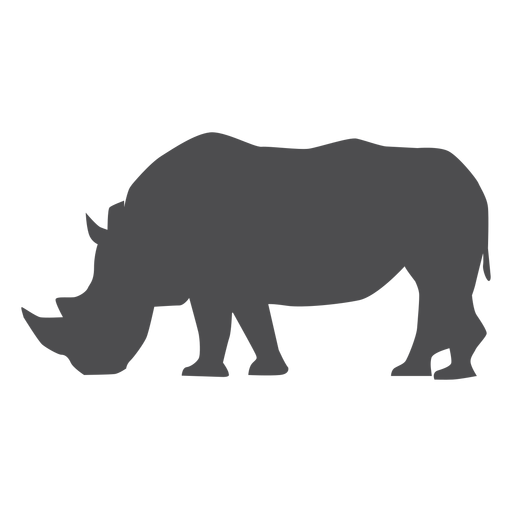 Rhinoceros rhino horn tail fat silhouette Transparent PNG