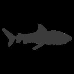 Silueta de aleta de tiburón