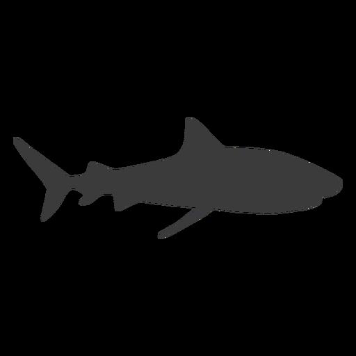 Silueta de aleta de tiburón Transparent PNG