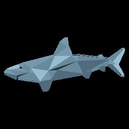 Aleta de tiburón cola baja poli