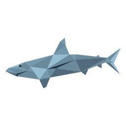 Shark fin tail low poly