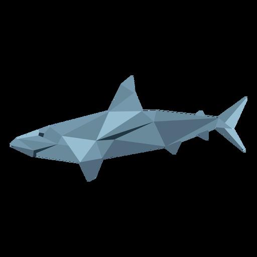 Aleta de tiburón cola baja poli Transparent PNG