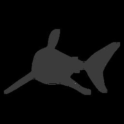 Silueta de cola de aleta de tiburón